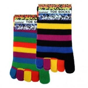 Stripy Toe Socks