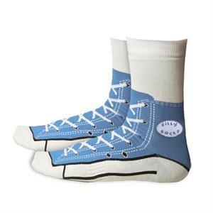 Silly Sock Sneaker Socks Shoe - Blue